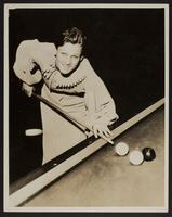 Babe Didrickson playing pool