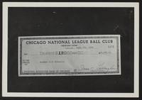 Photograph of checks