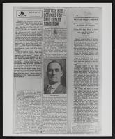 Photograph of newspaper articles