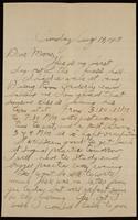 Recipient: Marie (August 19, 1917)