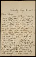 Recipient: Marie (August 26, 1917)