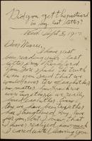 Recipient: Marie (September 5, 1917)