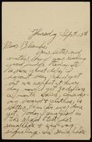 Recipient: Blanche (September 13, 1917)
