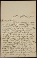 Recipient: Marie (September 22, 1917)