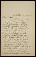 Recipient: Marie (November 17, 1917)