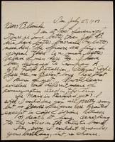 Recipient: Blanche (July 29, 1917)