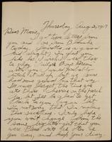 Recipient: Marie (August 2, 1917)