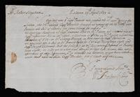 Correspondence: April 1699