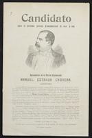 Candidato para el próximo periodo constitucional de 1905 á 1911: benemérito de la patria licenciado Manuel Estrada Cabrera
