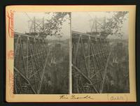 Rio Grande: view of bridge trellis; on verso, note that this is the bridge from which Dan Wells Casement fell to his death