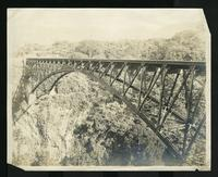 Bridge spanning from one side