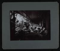 "View of veranda with furniture.   On verso: ""U.S. Legation, Court Corridor No.2.  San Jose, Cosa Rica, 1904."""