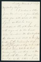 """Letter to """"My Darling Boy"""" [Dan Dillon Casement] from """"Mama"""" [Frances Marion Jennings Casement]"""