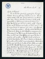 """Letter from William Lawrence Merry to """"My Dear Mr. Casement"""""""