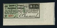 Bond (coupon) slips (22) from the Union and Titusville Railroad Company