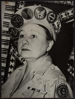 8x10 photo of Peggy in WWII navy uniform with various insignias