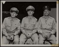 8x10 photo of three WWII Army Officers