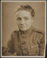 8x10 portrait of Peggy in Mexican Border War or WWI uniform