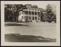 """4x6 photo of Deuell Residence, Saxon Hall, """"16 acres lawns and old trees and gardens"""""""