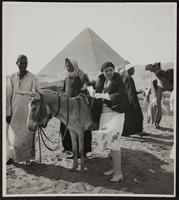 Photo of Peggy in Egypt at the Great Pyramid
