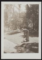 Photo of Peggy playing croquet (1 of 2)