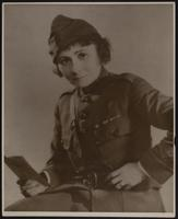 8x10 photo of Peggy in WWI uniform
