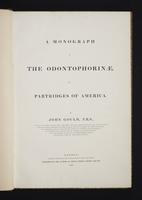Monograph of the Odontophorinae, 1:6