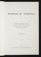 Introduction to the mammals of Australia, 1:6