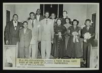 ? Nicklson and ? Rodgers wedding at St. Peter Claver (Photo by Mrs. L. K. Hughes)