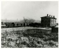 Leavenworth, Lawrence, Galveston Railroad at Santa Fe Depot