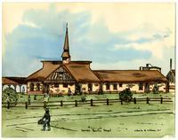 Kansas Pacific Railroad Depot - Watercolor