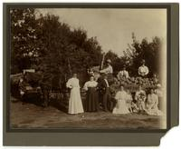 Group with Melons at Walnut Ave. Fruit Farm