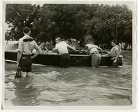 Work crew at boat (1951 Flood)