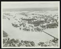 Aerial views of flood plain (1951 Flood)