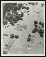 Aerial view of 2nd Street looking south (1951 Flood)