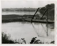 Looking north from Wakarusa River on South Haskell Road (1951 Flood)