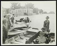 Corner of 2nd and Locust Street in north Lawrence (1951 Flood)