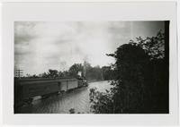 Santa Fe train on flooded tracks (1892 Flood)