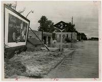 Corner of 2nd and Locust Streets, showing DX gas station (1951 Flood)