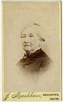 Portrait of old woman with updo
