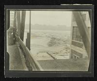 River between bridge and Bowersock Mill (1903 Flood)