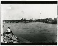 Bridge before being washed out by flood (1903 Flood)