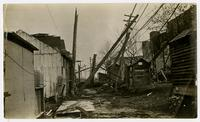 Alley behind Griffith Ice Company looking south (1911 Tornado)