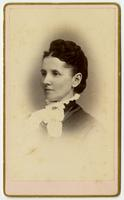 Portrait of woman with high collar andwhite cravat