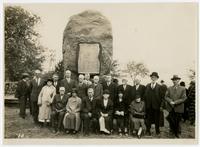 Dedication of pioneer boulder monument (75th Anniversary Historic Parade)
