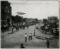 Semi-Centennial Parade in front of Watkins Bank