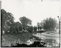 Refugees from flood along river (1903 Flood)