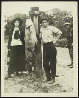 Doug Smith and friends with 120 pound catfish