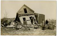 Destroyed home of African American family in north Lawrence (1911 Tornado)