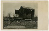 Destroyed farm building (1911 Tornado)